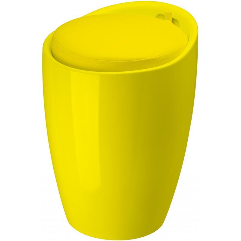 Groothandel in luxe badkamerartikelen : Badkamer kruk geel met gele ...